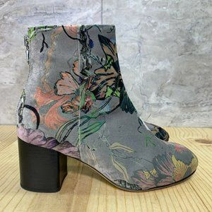 Rag and Bone Velvet Printed Booties Size 5 Size 35